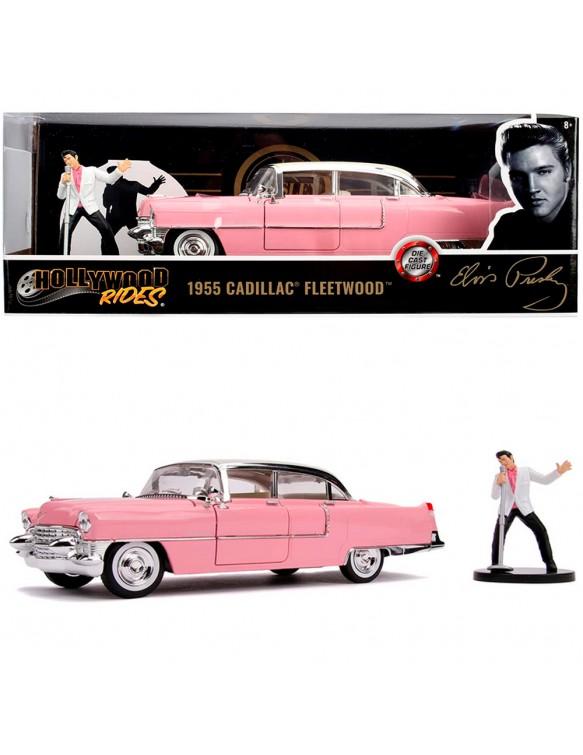 Cadillac Elvis Rosa 1:24 con figura