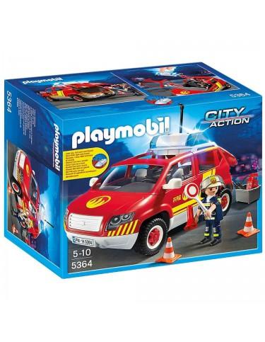 Playmobil Coche Jefe de Bomberos Luz y Sonido 4008789053640