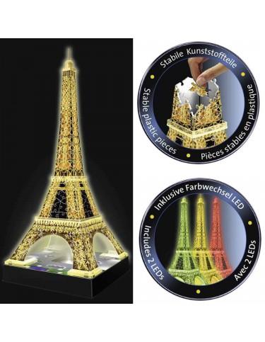 Puzzle Torre Eifeil 3D Luz 4005556125791
