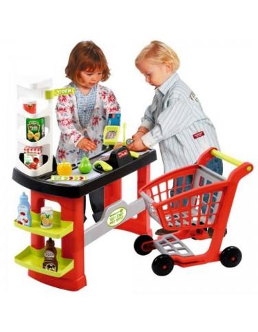 Supermercado y Carrito Smoby 3280250017400