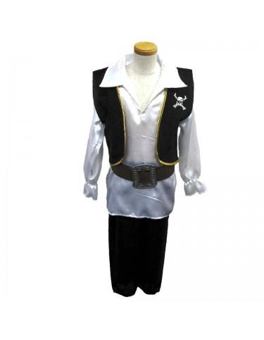 Disfraz Pirata Blanco y Negro (4-6) 4893884756363