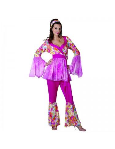 Disfraz Hippie Flores Adulto T-42 4719484863532