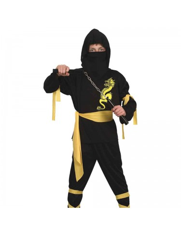 Disfraz Ninja Negro y Amarillo 4719484880294