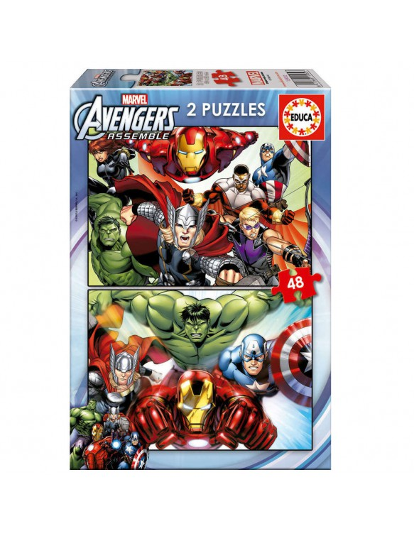Avengers Puzzle 2X48pz 8412668159327