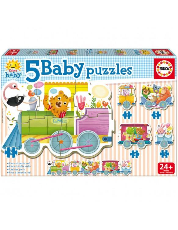 Puzzle Baby Tren de los Animales 8412668171428
