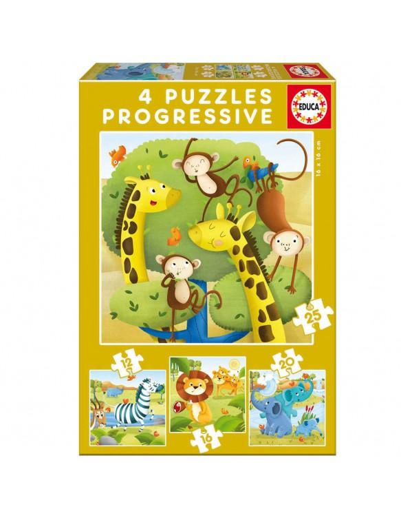 Animales Salvajes Puzzle 12/16/20/25 8412668171473