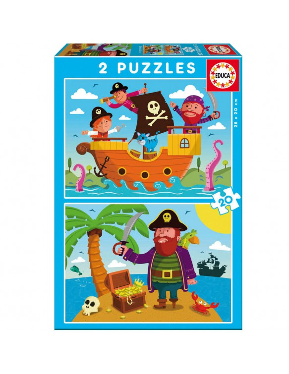 Piratas Puzzle 2x20pz 8412668171497