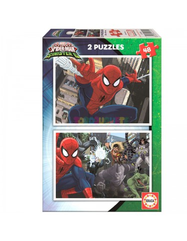 Spiderman Puzzle 2X48pz
