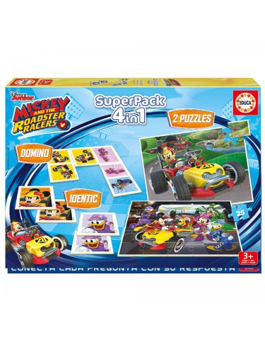 Puzzle Superpack Mickey & The Roadster Racers 8412668172234