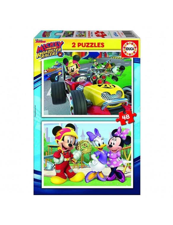 Mickey Puzzle 2X48pz. 8412668172395