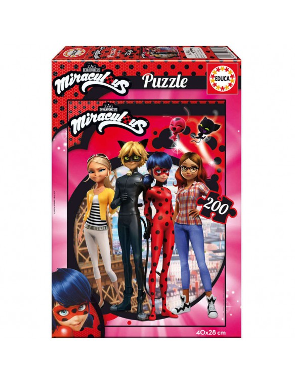 Ladybug-Miraculous Puzzle 200pz 8412668172784
