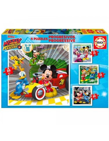 Mickey & The Roadster Racers Puzzle 12-16-20-25pz 8412668176294