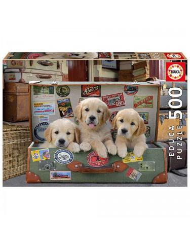 Puzzle 500pz Cachorros En El Equipaje 8412668176454