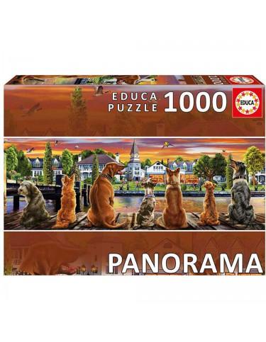Puzzle 1000pz Perros En El Embarcadero 8412668176898