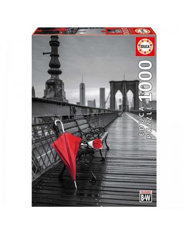 Puzzle 1000pz Paraguas Rojo, Puente De Brooklin 8412668176911