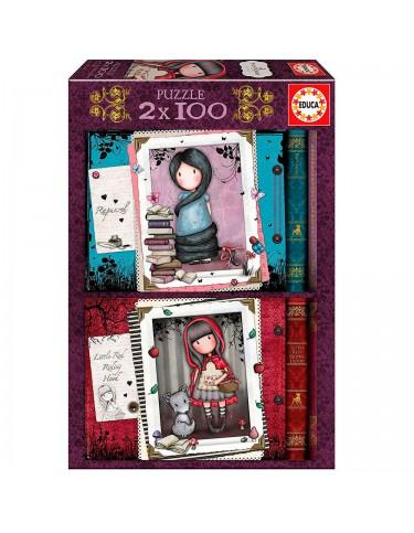 Gorjuss y Little Red Puzzle 2x100pz 8412668178229