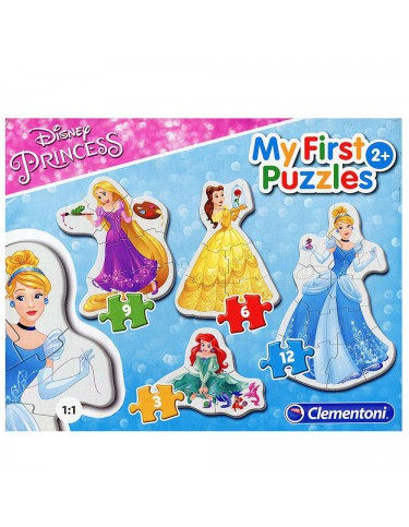 Disney Princess Puzzle 3-6-9-12 Pz