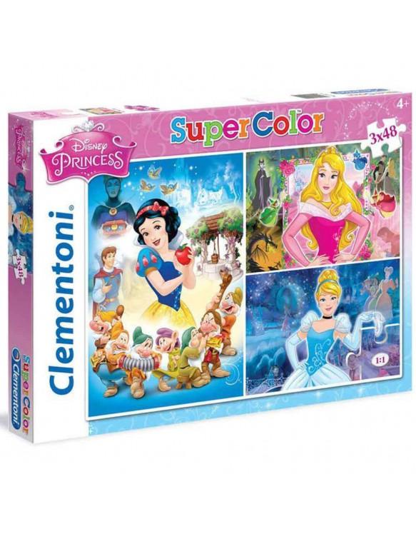 Princesas Disney Puzzle 3x48pz 8005125252114