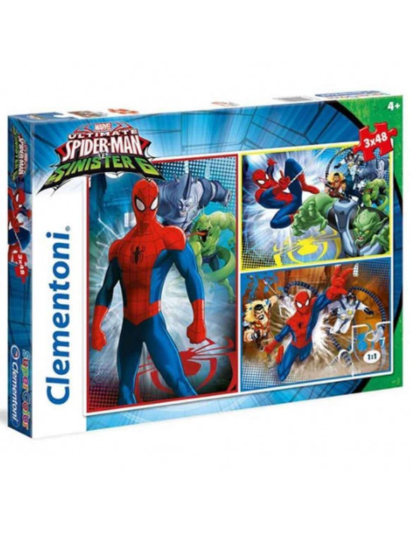 Spiderman Puzzle 3x48pz 8005125252176