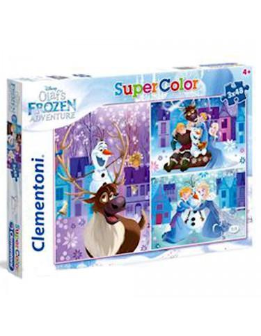 Olaf Frozen Adventure Puzzle 3x48pz