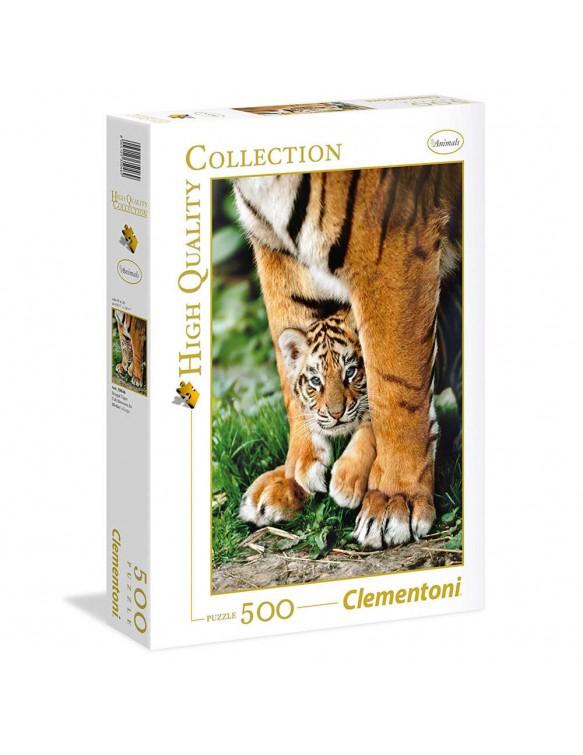 Puzzle 500 Tigre De Bengala Con Su Madre 8005125350469
