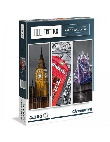 Puzzle Londres 3x500pz 8005125393060