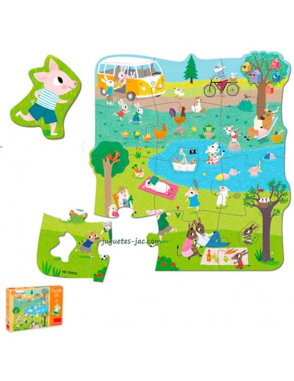 Puzzle XXL Un Día en el Campo Goula 8410446534274