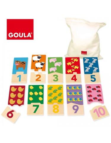 Puzzle Números de Madera 8410446533291