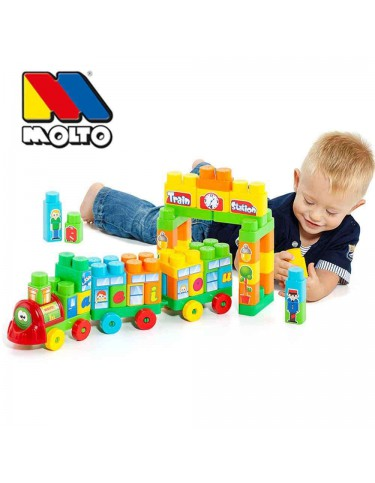 Molto Blocks Tren 70 piezas 8410963164701