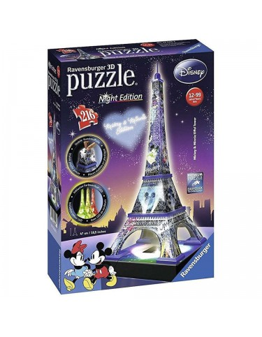 Torre Eiffel Night Disney Puzzle 3D