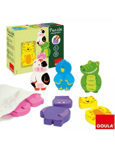Puzzle Magnético Animales Goula 8410446552346