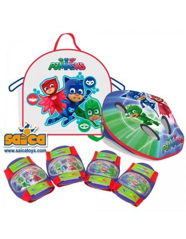 Pj Masks Mochila, Casco y Protecciones 8421440029383