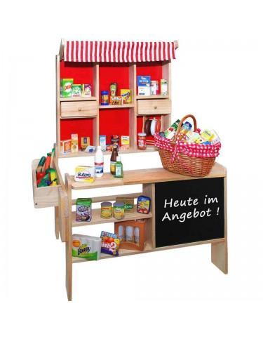 Supermercado Madera Con 40 Piezas 4007464003383