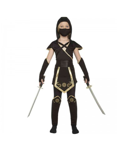 Disfraz Ninja Negro Niña 7-9 años 8435408248921
