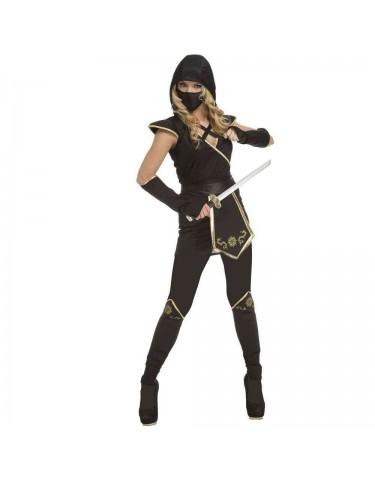 Disfraz Ninja Negro Mujer M-L 8435408248969
