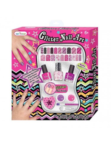 Nail Art Set De Uñas Glitter 842817018331