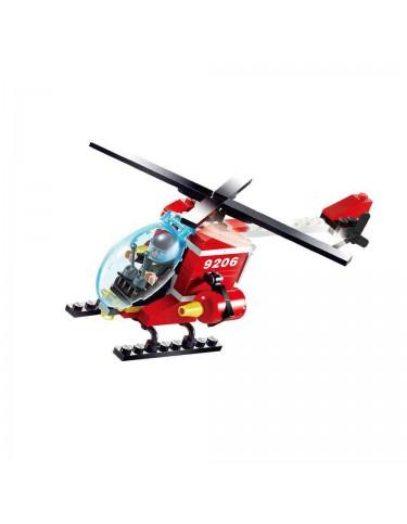 Helicóptero Bomberos Construcción 91 Pzas