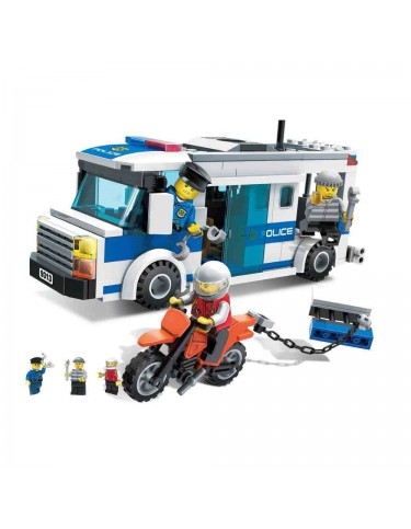 Construcción Furgón y Moto Policía 240 Pzas