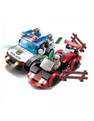 Construcción Vehículos Policía y Ladrón 264 Pzas 5022849738048