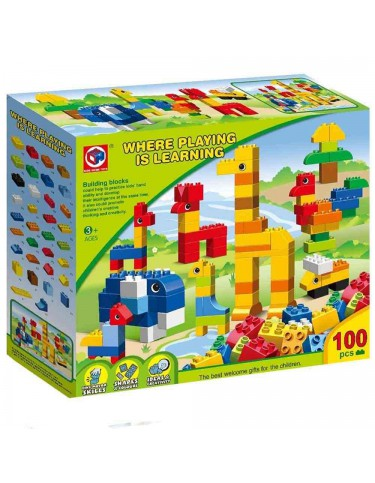 Bloques animales 100 piezas 9421216643125