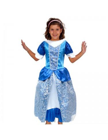 Disfraz Princesa Azul 5-7 Años 4893884754550